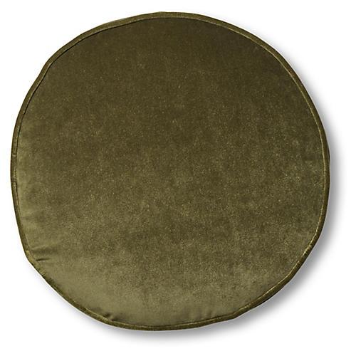Claire 16x16 Disc Pillow, Balsam Velvet