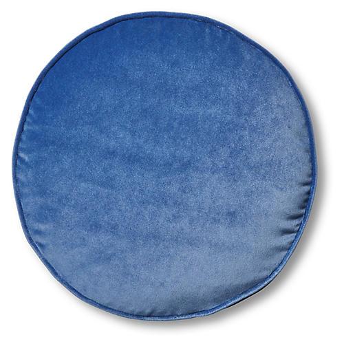 Claire 16x16 Disc Pillow, Cobalt Velvet