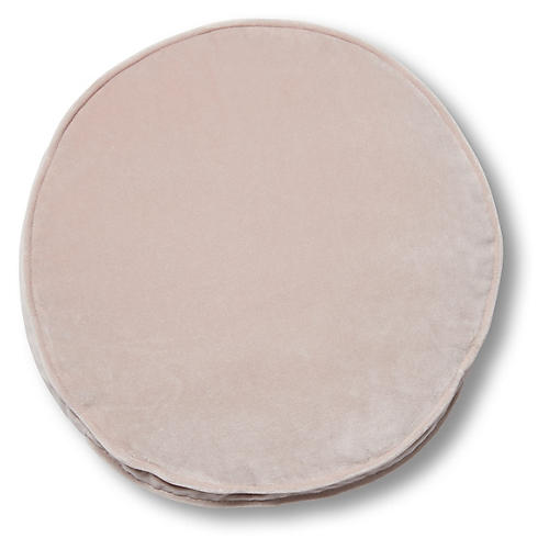 Claire 16x16 Disc Pillow, Mauve Velvet