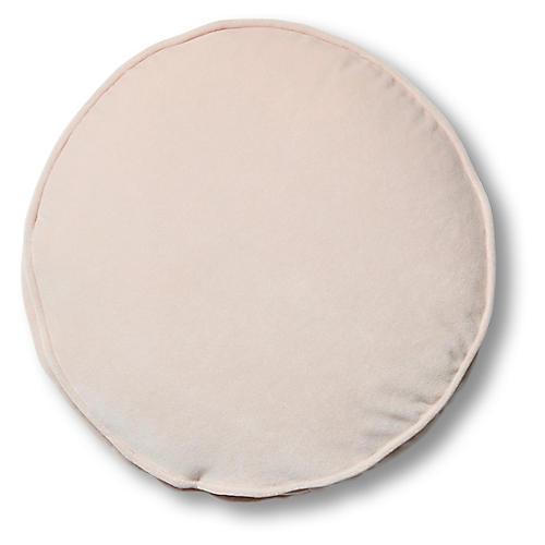Claire 16x16 Disc Pillow, Blush Velvet
