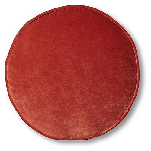 Claire 16x16 Disc Pillow, Rust Velvet