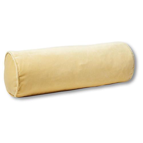 Anne Bolster Pillow, Canary Velvet