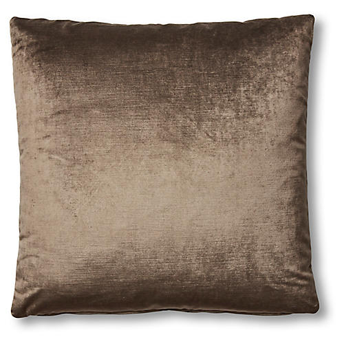 Hazel Pillow, Sky Gray Velvet
