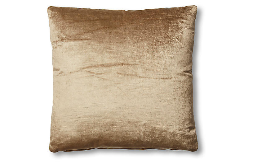 Hazel Pillow, Putty Velvet