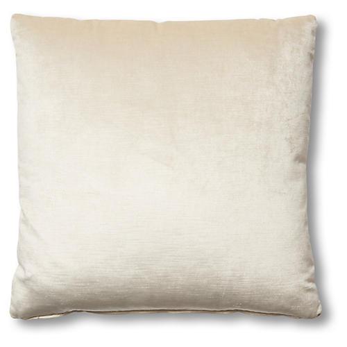 Hazel Pillow, Oyster Velvet
