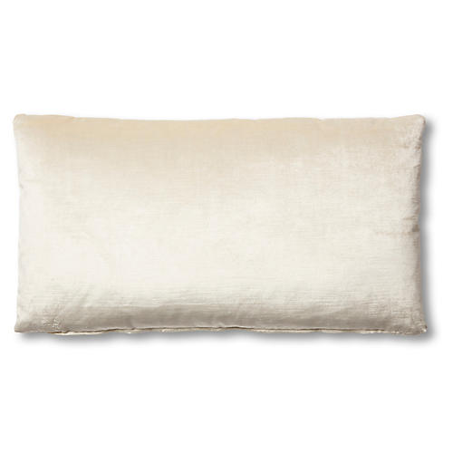 Ada Long Lumbar Pillow, Oyster Velvet