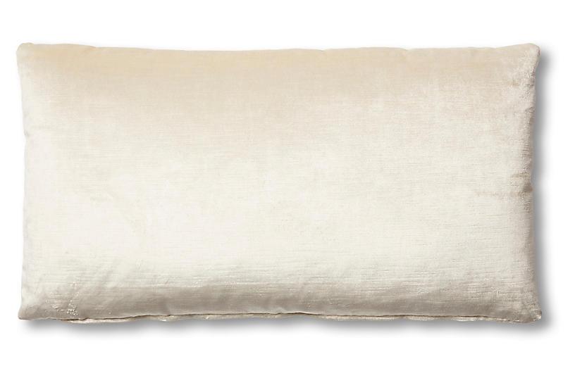 Ada Long Lumbar Pillow, Oyster Velvet
