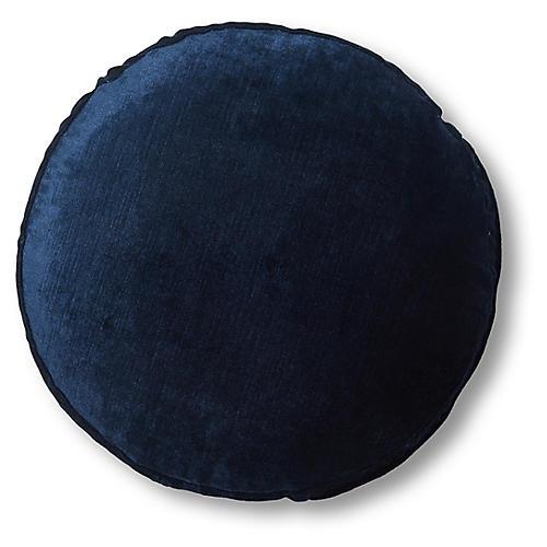 Claire 16x16 Disc Pillow, Midnight Velvet