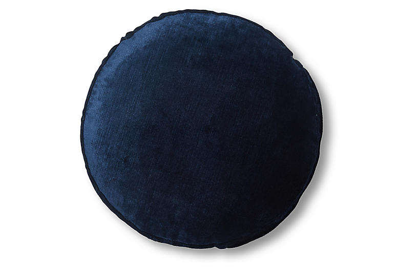 Claire 16x16 Disc Pillow, Midnight Velvet