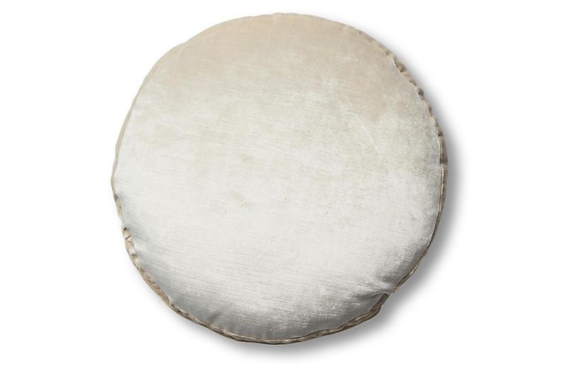 Claire 16x16 Disc Pillow, Oyster Velvet