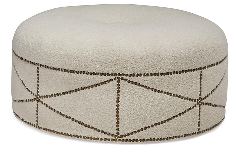 Lexis Ottoman, Ivory Shearling