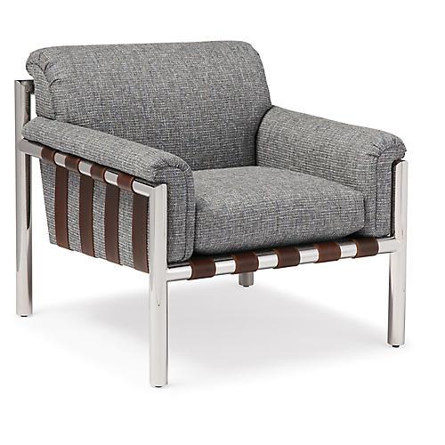 Quinton Accent Chair, Blue Wash