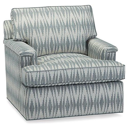 Clare Club Chair, Blue Ocean