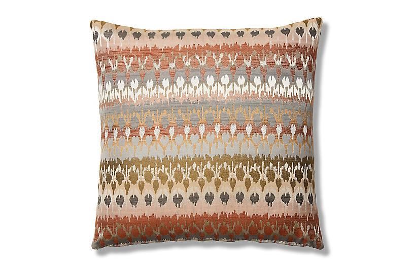 Emi 19x19 Pillow, Clay/Multi