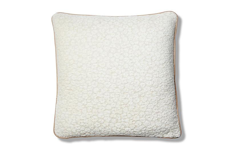 Grace 22x22 Pillow, Cream