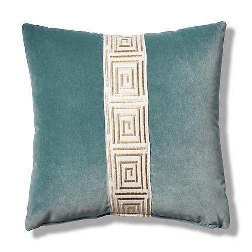 Zabi 19x19 Pillow, Sage Velvet