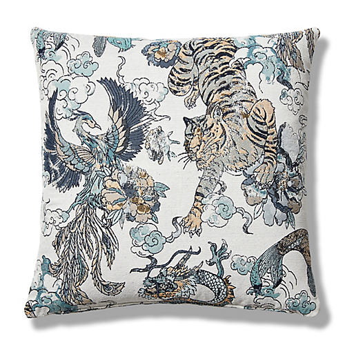 Whitley 19x19 Pillow, Sage/Ivory