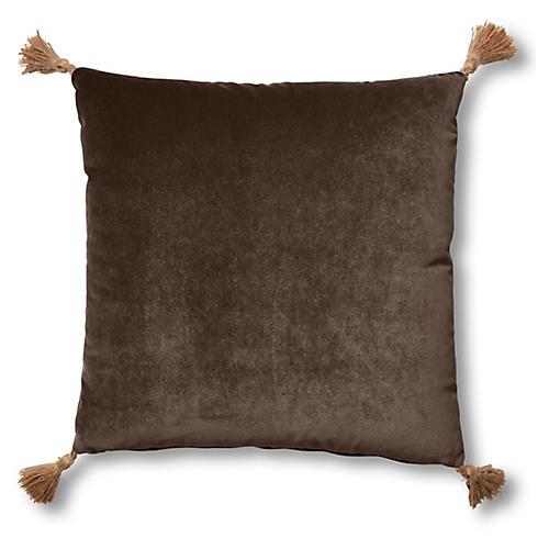 Lou 19x19 Pillow, Café Velvet