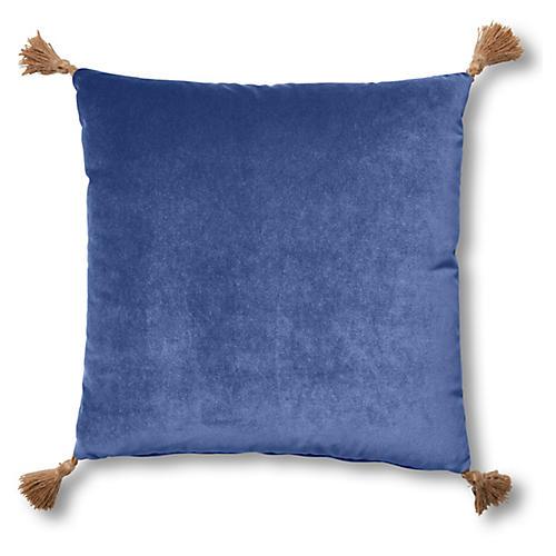 Lou 19x19 Pillow, Cobalt Velvet