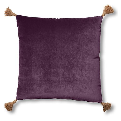 Lou 19x19 Pillow, Fig Velvet