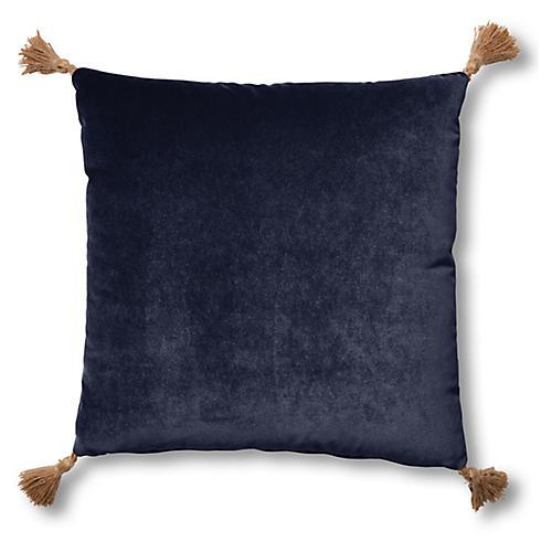 Lou 19x19 Pillow, Navy Velvet