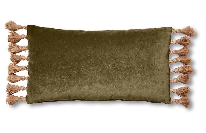 Lou 12x23 Lumbar Pillow, Balsam Velvet