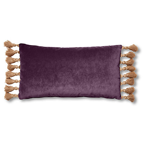 Lou 12x23 Lumbar Pillow, Fig Velvet