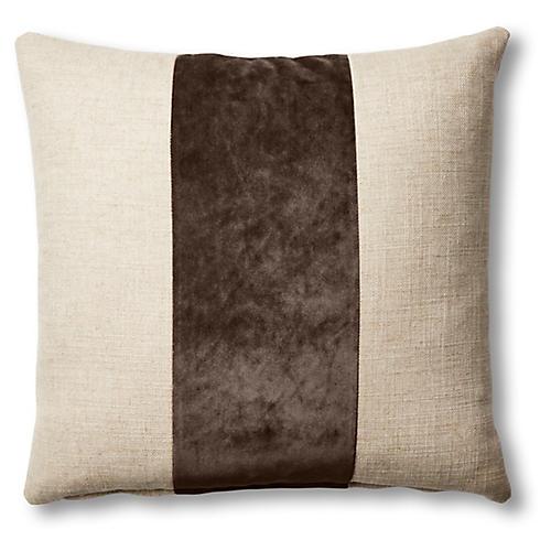Blakely 19x19 Pillow, Natural/Café