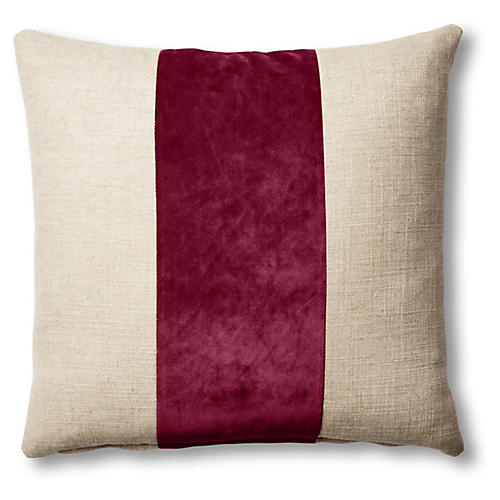 Blakely 19x19 Pillow, Natural/Currant