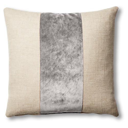 Blakely 19x19 Pillow, Natural/Light Gray