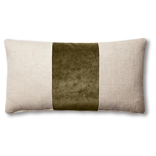 Blakely 12x23 Lumbar Pillow, Natural/Balsam