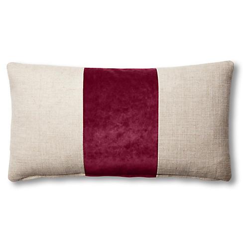 Blakely 12x23 Lumbar Pillow, Natural/Currant