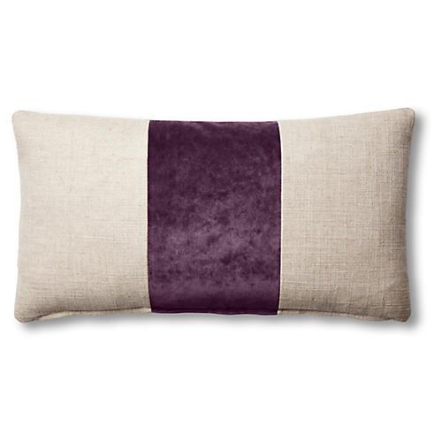 Blakely 12x23 Lumbar Pillow, Natural/Fig