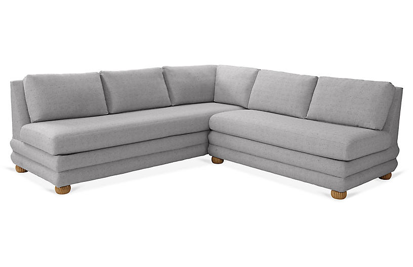 Millbrae Right-Facing Sectional, Charcoal Linen