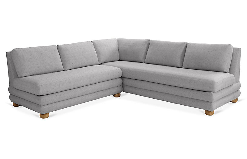 Millbrae Left-Facing Sectional, Charcoal Linen