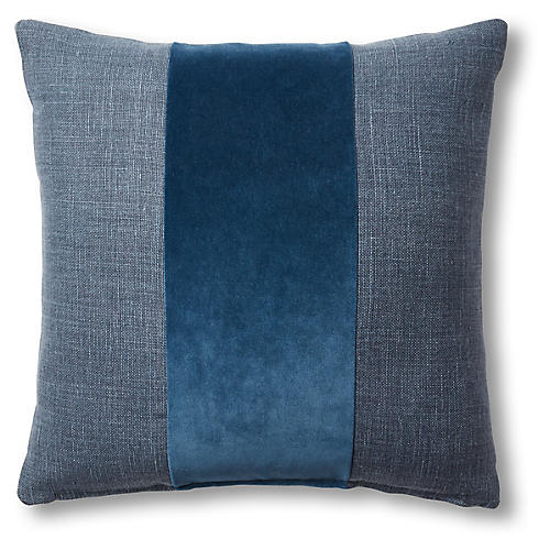Sara 19x19 Pillow, Blue