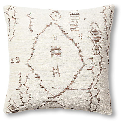Simone 19x19 Pillow, Beige/Brown