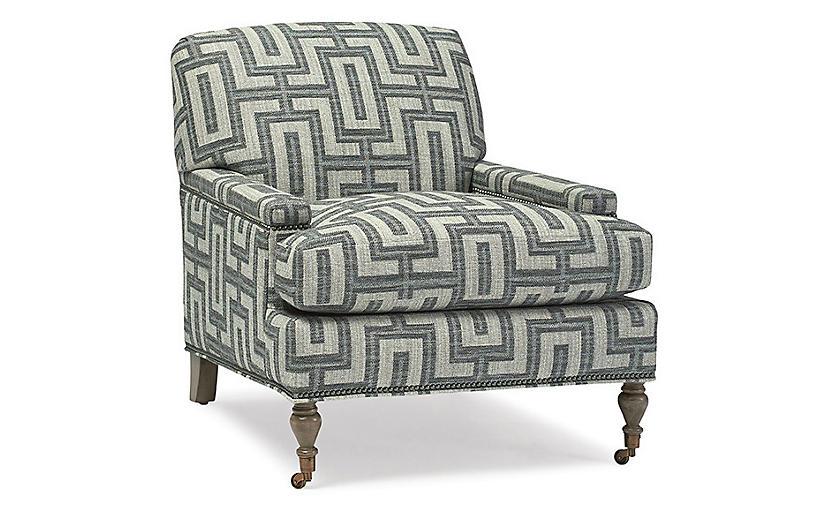 Enfield Club Chair, Gray