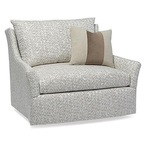 Etta Swivel Chair, Fawn