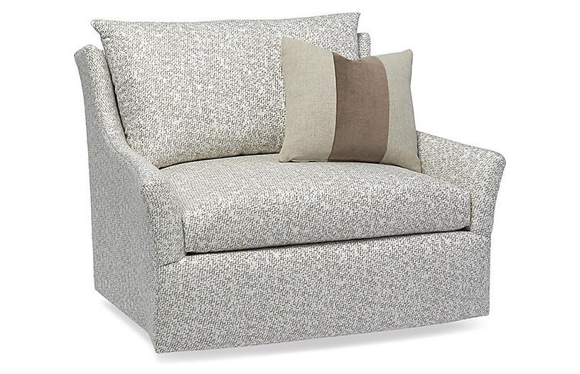 Etta Swivel Chair, Ivory