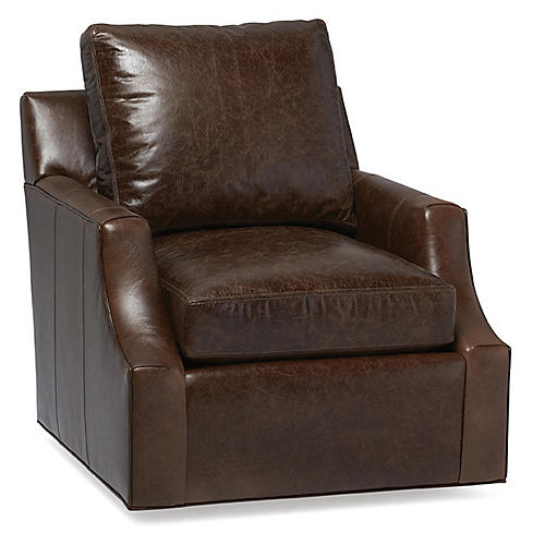 Blake Chair, Brown Leather