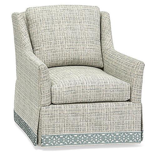 Merril Swivel Chair, Gray/Blue