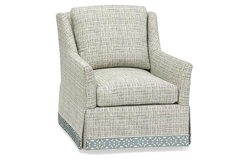 Merrill Swivel Chair, Gray