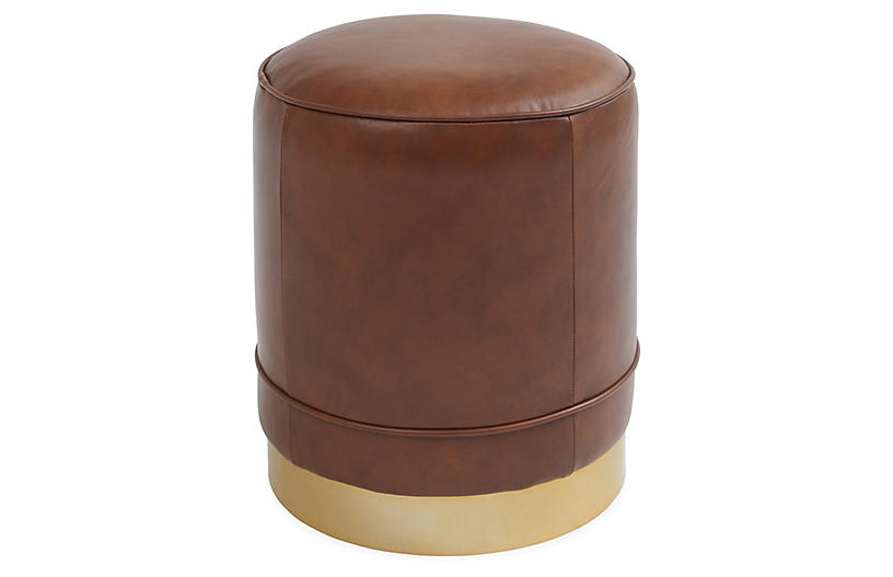 Piper Stool, Chocolate Saddle Leather