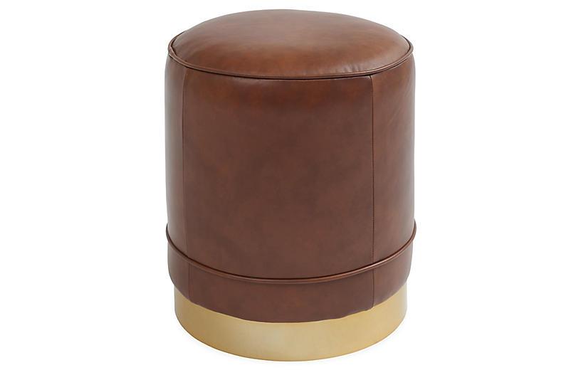 Piper Stool, Chocolate Saddle Leather