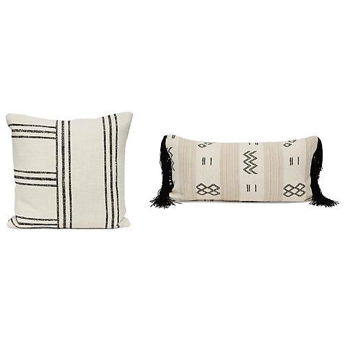 Maisie Pillow Bundle, Black/Ivory