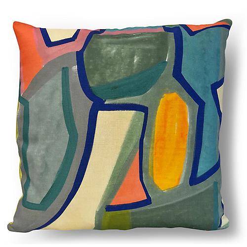 Barnal 20x20 Pillow, Stone/Multi