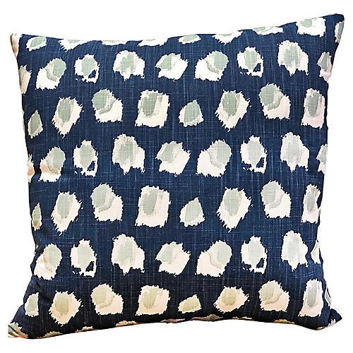 Clara 20x20 Pillow, Indigo/Seafoam