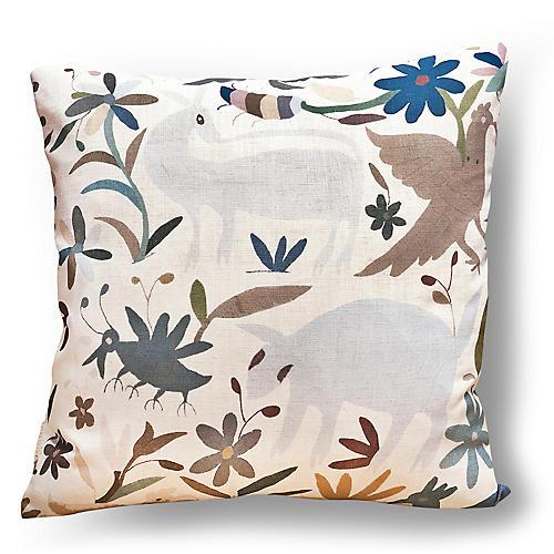 Olvera 20x20 Pillow, Cream/Multi