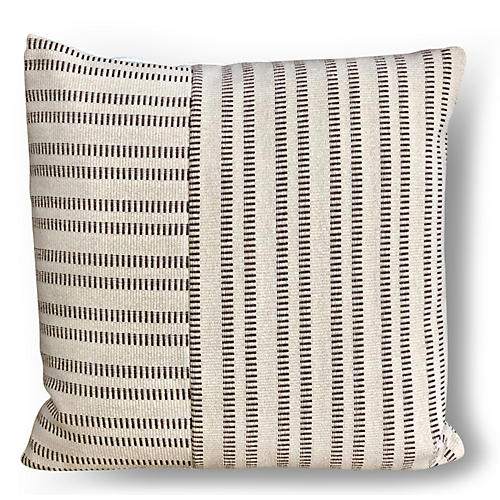 Sanders 20x20 Pillow, Pecan/Cream